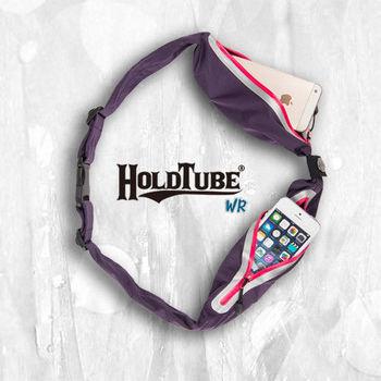 【HOLDTUBE】運動腰帶-防水雙口袋-紫粉