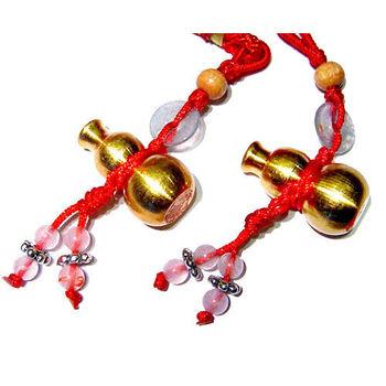 【開運陶源】如意【銅葫蘆吊飾一對】