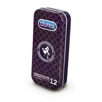 【Durex杜蕾斯 x Porter】保險套 超薄裝更薄型(12入) 經典格紋-黑紅