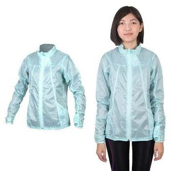 【MIZUNO】女袖口穿指設計風衣外套- 路跑 慢跑 運動外套 美津濃 淺綠
