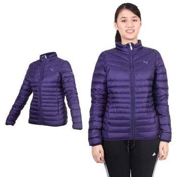 【PUMA】女輕量羽絨外套- 立領外套 保暖外套 葡萄紫