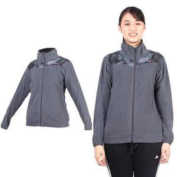 【MIZUNO】女風衣外套- 立領外套 路跑 慢跑 美津濃 灰粉紅   100%聚酯纖維