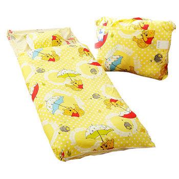 【DISNEY】迪士尼小熊維尼二用幼教兒童睡袋-飛翔篇(黃)