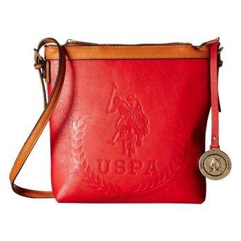 US Polo 2016女時尚馬球標誌圖案紅色斜背包(預購)