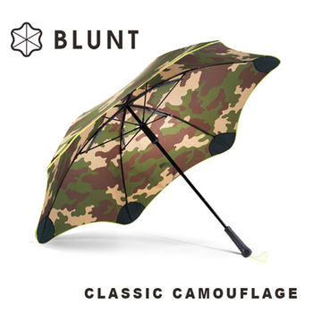 【紐西蘭BLUNT 保蘭特】抗強風防反轉抗UV時尚雨傘(直傘大號Blunt Classic+迷彩圖騰)