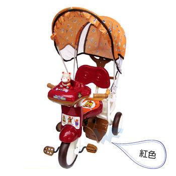 【MIT台灣童車】三輪車系列 - 快樂熊遮陽三輪車