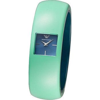 ARMANI 華麗挑戰時尚風格女錶-綠(AR7367)