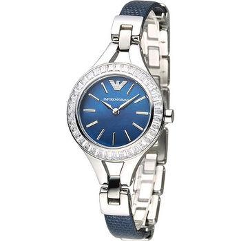ARMANI 永恆心戀晶鑽時尚女錶-藍(AR7330)