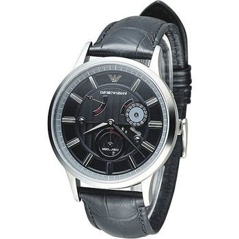 ARMANI 時空旅行自動機械男錶-黑(AR4659)