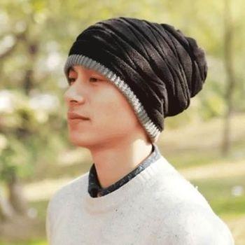【米蘭精品】針織毛帽經典造型紋路羊毛男帽子