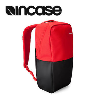 【INCASE】Staple Backpack 15吋 輕巧撞色拼接筆電後背包 紅黑