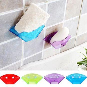 多功能吸盤式廚房瀝水架/浴室置物架  (1入)