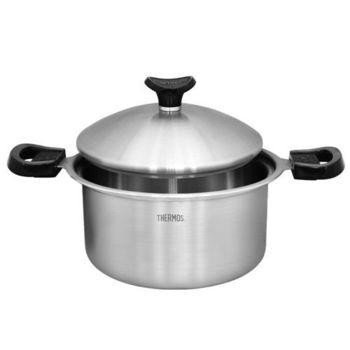 【THERMOS膳魔師】22cm健康原味湯鍋 K22A-W22