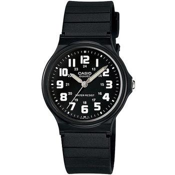 CASIO 時尚玩色輕薄魅力腕錶-黑x白(MQ-71-1B)