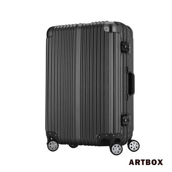 【ARTBOX】超次元 - 26吋 輕量PC鏡面鋁框行李箱(黑色)