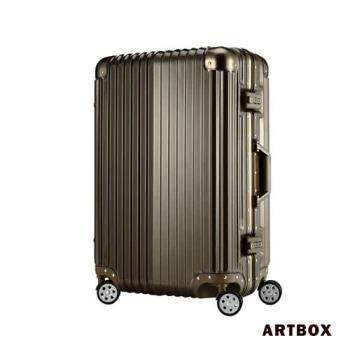 【ARTBOX】超次元 - 20吋 輕量PC鏡面鋁框行李箱(金色)