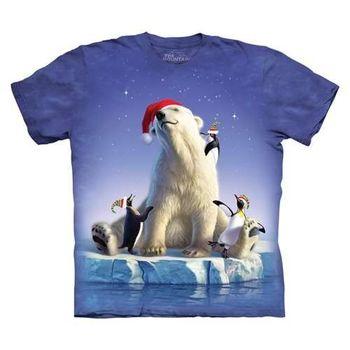 【摩達客】(預購)美國進口The Mountain 聖誕北極動物 純棉環保短袖T恤