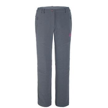 【聖伯納 St.Bonalt】女款-防風防潑水超保暖內刷毛軟殼休閒褲-墨灰(6144)