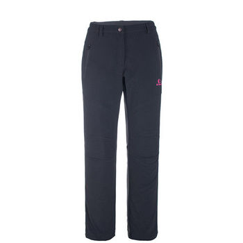 【聖伯納 St.Bonalt】女款-防風防潑水超保暖內刷毛軟殼休閒褲-黑色(6144)