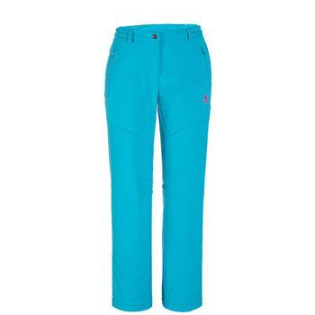 【聖伯納 St.Bonalt】女款-防風防潑水超保暖內刷毛軟殼休閒褲-孔雀藍(6144)