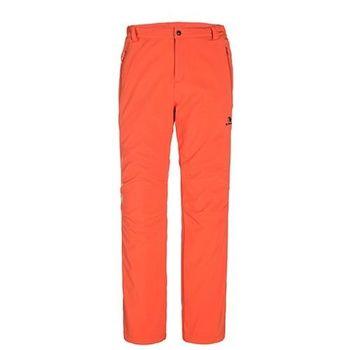 【聖伯納 St.Bonalt】男款-防風防潑水超保暖內刷毛軟殼休閒褲-橘黃色(36142)