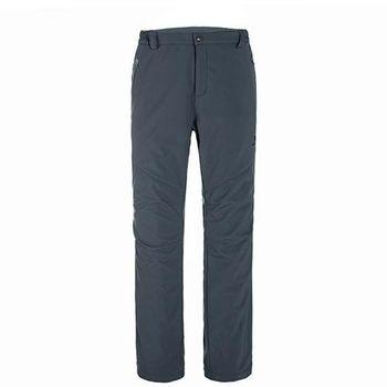 【聖伯納 St.Bonalt】男款-防風防潑水超保暖內刷毛軟殼休閒褲-暗灰(36142)