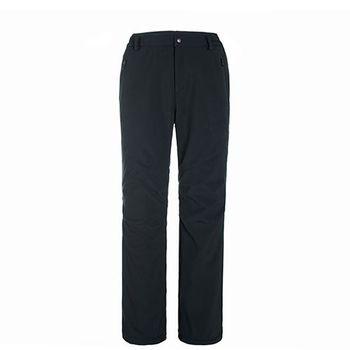 【聖伯納 St.Bonalt】男款-防風防潑水超保暖內刷毛軟殼休閒褲-黑色(36142)