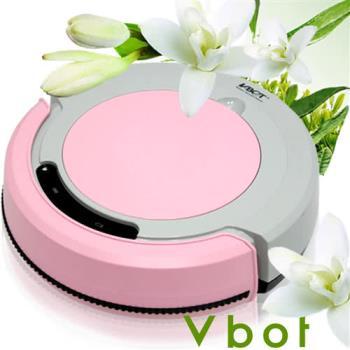 Vbot 智慧型茉莉綠茶香氛掃地機器人(掃+擦+吸)公主機(粉紅)