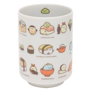 San-X 角落公仔壽司集會系列日式陶瓷茶杯 壽司種類