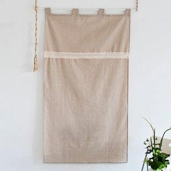 【協貿】簡約宜家素色棉麻布藝門簾