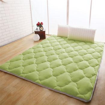 【契斯特】單色八公分超厚實京都日式床墊-雙人(青草綠)