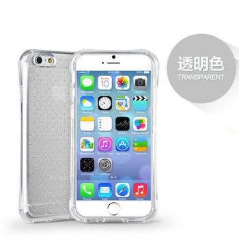 iPhone 6/6s Plus 5.5吋 透氣星點氣囊防摔TPU保護套_透明