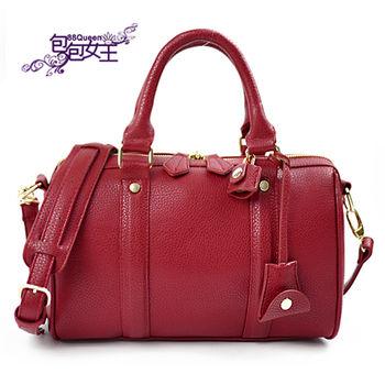 【88Queen❤包包女王】正韓空運★時尚經典雙拉鏈鎖頭波士頓包