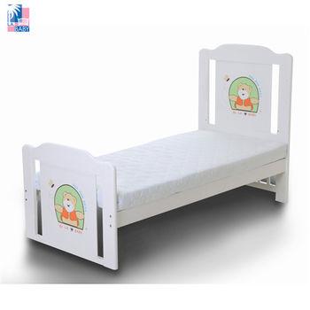 【美國 L.A. Baby】布魯克林兒童床 (白色/咖啡色)