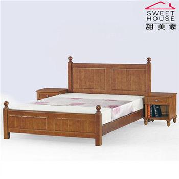 【甜美家】簡愛全實木雙人加大6尺床架 (雙色可選)