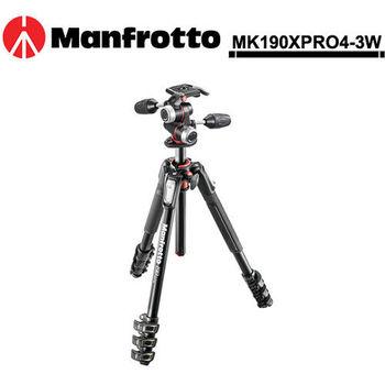 Manfrotto 曼富圖 MK190XPRO4-3W 四節腳架+三向雲台套組