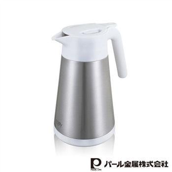 【日本PEARL】1.2L易開式不鏽鋼保溫壺(銀)