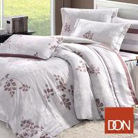 贈 #45 舒眠對枕 DON 卡布奇諾 雙人六件式天絲兩用被床罩組