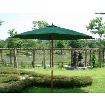 兄弟牌九尺木柄製太陽傘 (270cm)-綠色