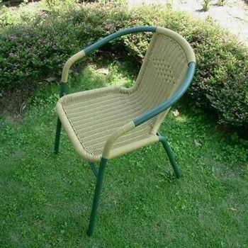 兄弟牌PE藤製鐵管休閒椅 (2入裝)-綠管