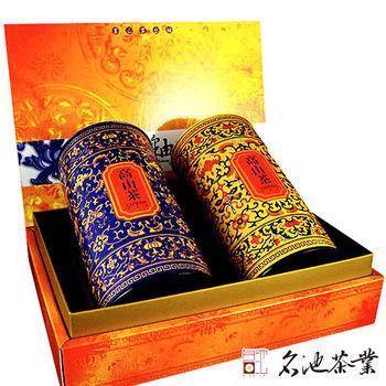 【名池茶業】阿里山手採高山茶葉禮盒(釉色茶苑款/150克x2)