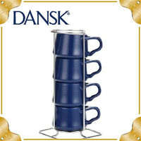 ~DANSK~Kobenstyle 茶杯收納組4入 ^#45 深藍