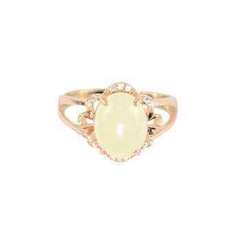 摯美珠寶富麗璀璨和闐羊脂白玉(白玉戒指)