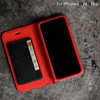 【SOLOVE】Apple iPhone6(s) 4.7吋 全真皮 側掀式皮套