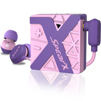 SpearX W1運動防水藍牙耳機-魅力紫-PL