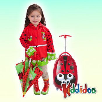 【Kiddidoo】童趣造型硬殼拉桿行李箱_瓢蟲
