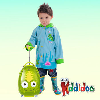 【Kiddidoo】童趣造型硬殼拉桿行李箱_青蛙