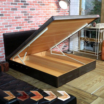 【時尚屋】[WG5]格頓5尺寬版尾掀床+安全扣1WG5-503A