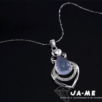 【JA-ME】天然酒精藍玉隨項鍊(2)