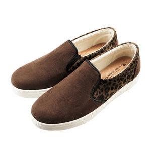 PLAYER  麂皮豹紋拼接休閒鞋 (FLP23) -共二色